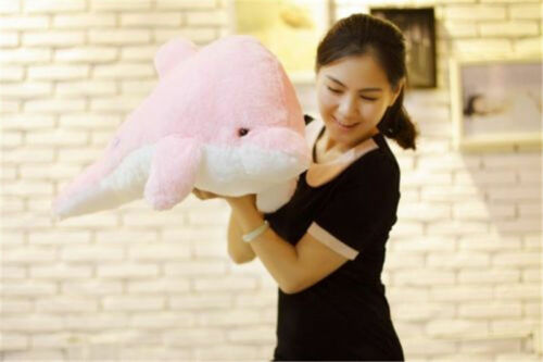 US LED Light Supper Sparkling Dolphin with Stuff Toy Pillow Kids birthday Pillow