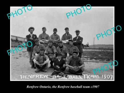 OLD LARGE HISTORIC PHOTO OF RENFREW ONTARIO, THE RENFREW BASEBALL M c1907