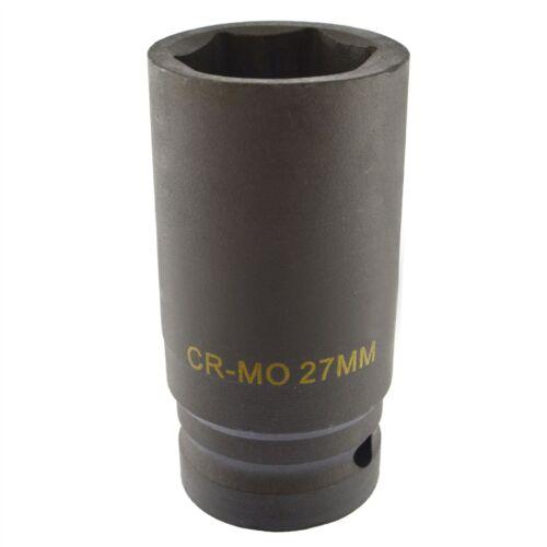 27 mm Métrique 3//4 drive Double Deep Impact Socket 6 face simple Hex à Paroi épaisse