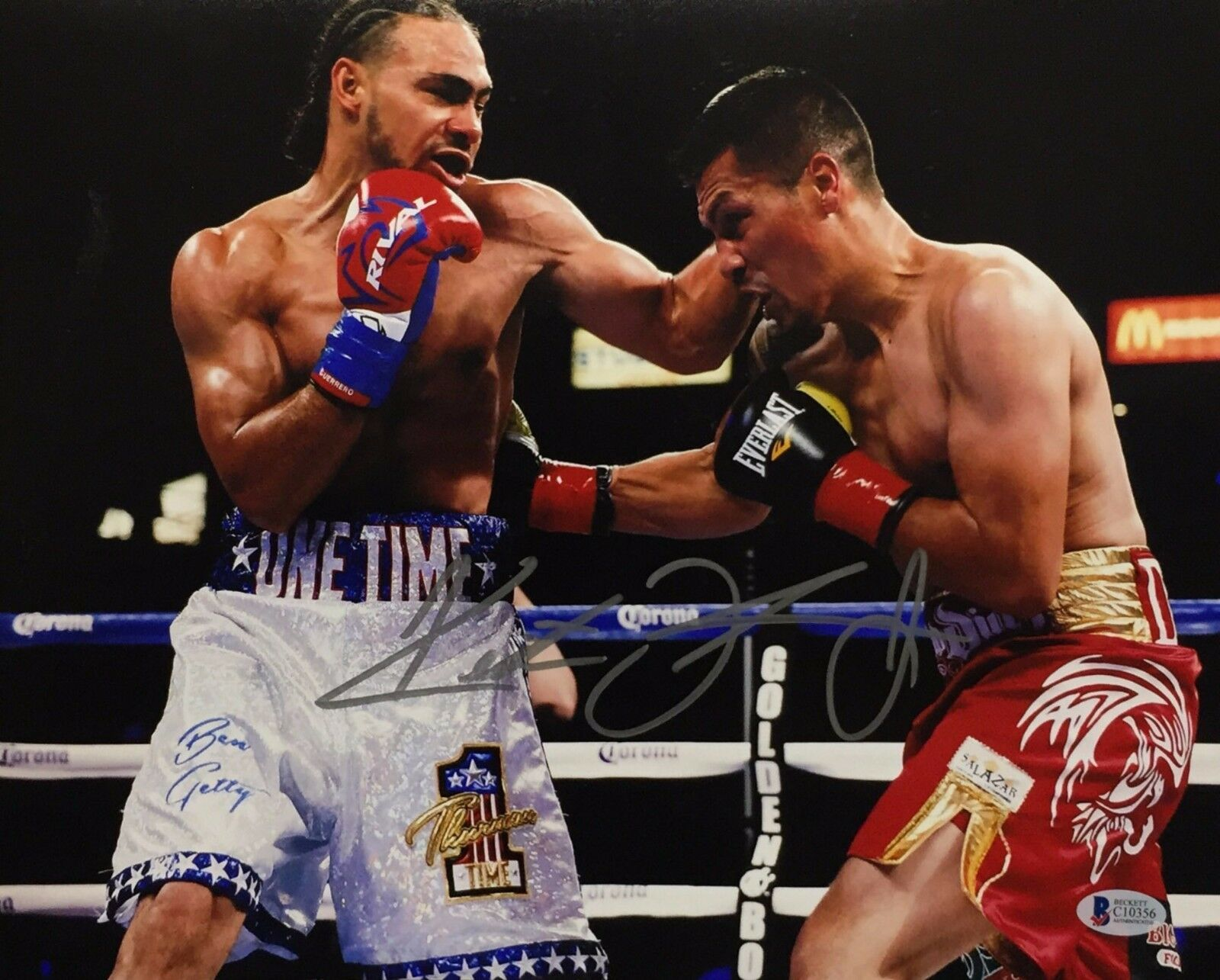 Keith Thurman Signed 11x14 Boxing Photo BAS Beckett C10356