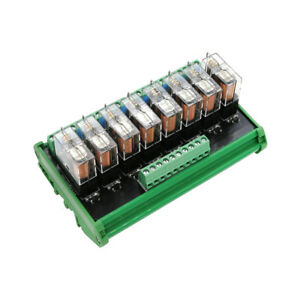 Omron 8 Relay Module Eight Panels Driver Board Socket DC 12V PNP
