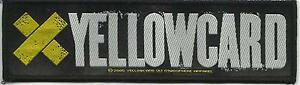 YELLOWCARD-logo-2005-WOVEN-STRIP-SEW-ON-PATCH-official-no-longer-made