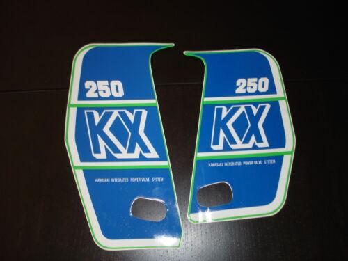 1989 KAWASAKI KX 250 RADIATOR SHROUD DECAL KIT AHRMA VINTAGE MOTOCROSS