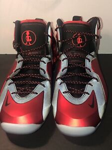 9b1aaf1f2f Image is loading Authentic-Nike-Lil-Penny-Posite-University-Red-630999-