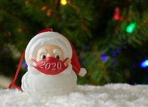 Santa Ornament with Mask Christmas 2020