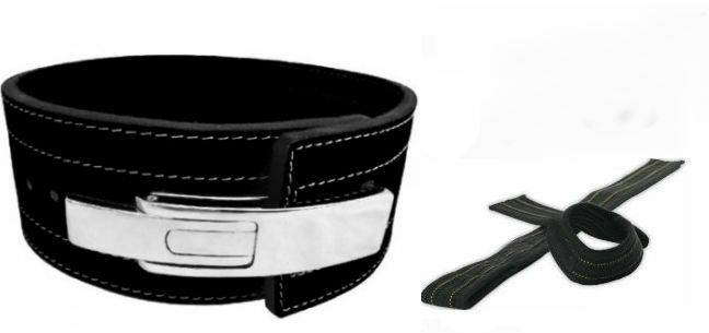PowerLifting Leather Lever 10mm Power Lifting Belt XL  Lifting Straps