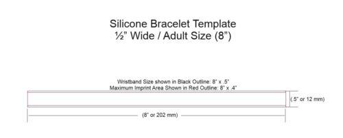 Slogan Logo Custom Silicone Wristband Printed W// Company School 100  QTY