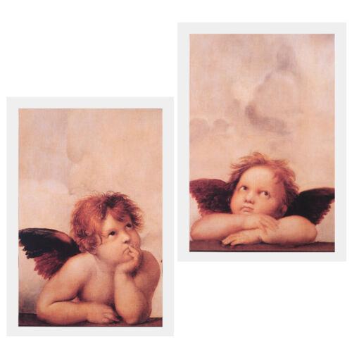 Leinwand Wandkunst Nette Engel Leinwand Gemälde Bilder 2 Panels Home