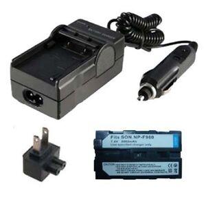 HZQDLN Portable AC NP-F330 NP-F960 Battery Charger for Sony MVC-FD73 MVC-FD75 Mavica Digital Camera