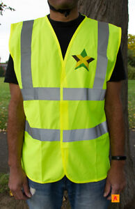 Jamaica-Flag-Mug-amp-Hi-Visibility-Waistcoat-Vest