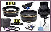 Super Saving Hd Lens/filter Acc Package For Nikon D5000 D5100 D5200 D5300 D5500