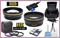 Super Saving Hd Lens/filter Acc Package For Nikon D5000 D5100 D5200 D5300 D5500