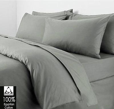 Luxury 100% Egyptian Cotton Duvet Quilt Cover Pillow case Bedding Set All Sizes