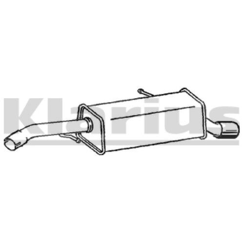 End Silencer Exhaust 1x OE Quality Replacement C2 14HDI HB 10//03 10//05 Rear