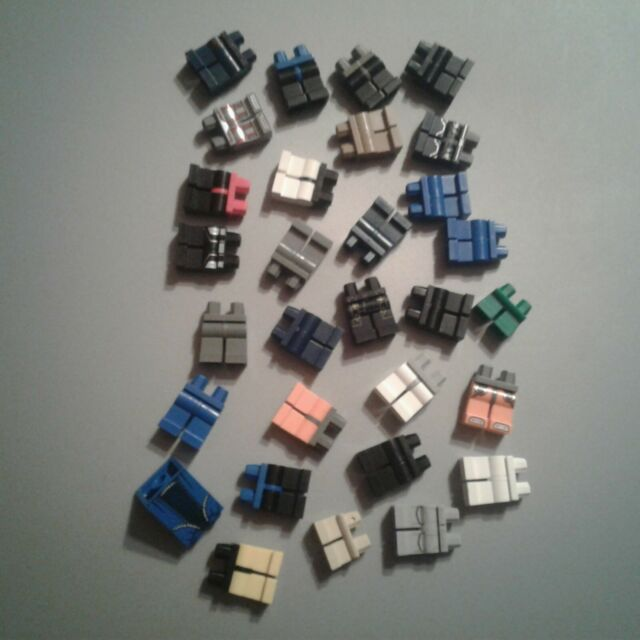LEGO Assorted 30pc Lot of Minifigure Accessories Pants, Legs, City Town, Lot 6