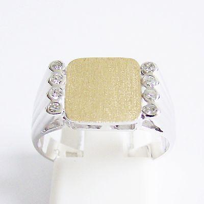 Ring Gold 585er Brillanten 14 kt. Bi-Color Herren u. Damen Diamant Goldschmuck