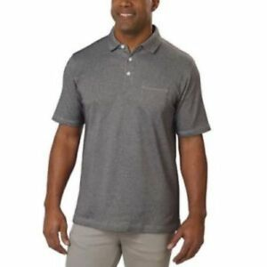 NEW-Cypress-Club-Men-039-s-Short-Sleeve-Polo-GRAY-MEDIUM
