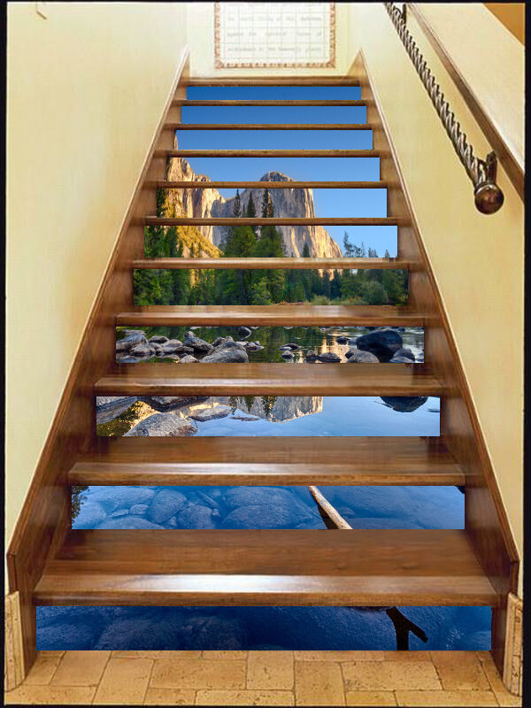 3D Stones, water 87 Stair Risers Decoration Photo Mural Vinyl Decal Wallpaper AU