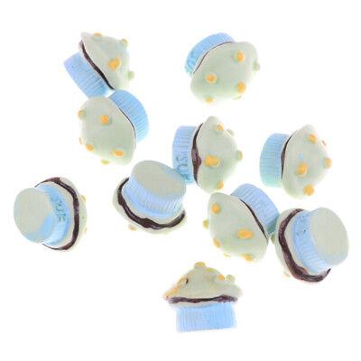 10pcs Coppa A Fungo Torta Cibo In Miniatura Dei Modelli Accessori Casa Delle Bambole N Sg-mostra Il Titolo Originale
