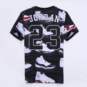 a1203f5d51 2017 New Women/Men Jordan 23 Letter 3D Print Casual short sleeve T ...