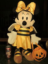 Disney Plush Stuffed STANDING Minnie Mouse BEE Outfit HALLOWEEN Pumpkin Bag CUTE