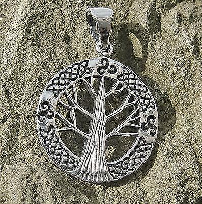 Top Lebensbaum 925 Silber Mittelalter Kraftamulett Yggdrasil Weltenbaum Triskele Extrem Effizient In Der WäRmeerhaltung