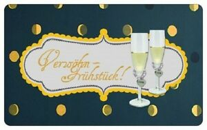 Brettchen Verwöhnfrühstück Champagner Alpstyle Blümchen & Ko