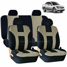 BEIGE & BLACK DOUBLE STITCH SEAT COVERS 8PC set for MITSUBISHI LANCER