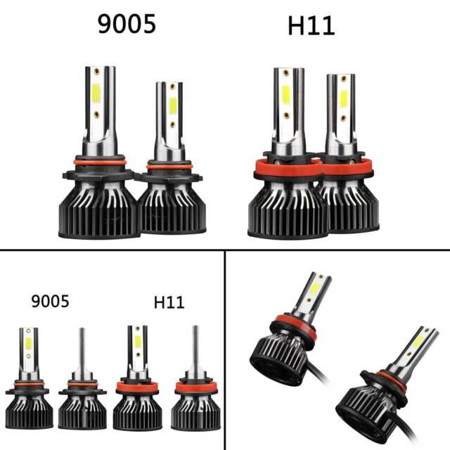 2X LED Headlight Bulbs Conversion Kit 9005+H11 High Low Beam Bright 6000K