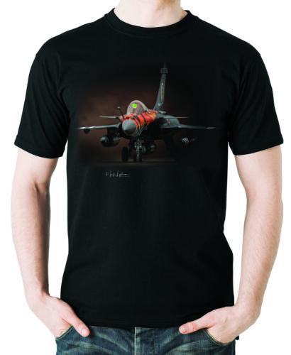Flyingraphics aviation themed T Shirt /'Rafale Dark Tiger/' by Mark Lynham.