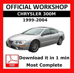 official workshop manual service repair chrysler 300m 1999 2004 rh ebay co uk chrysler 300m owners manual pdf 2001 chrysler 300m owners manual