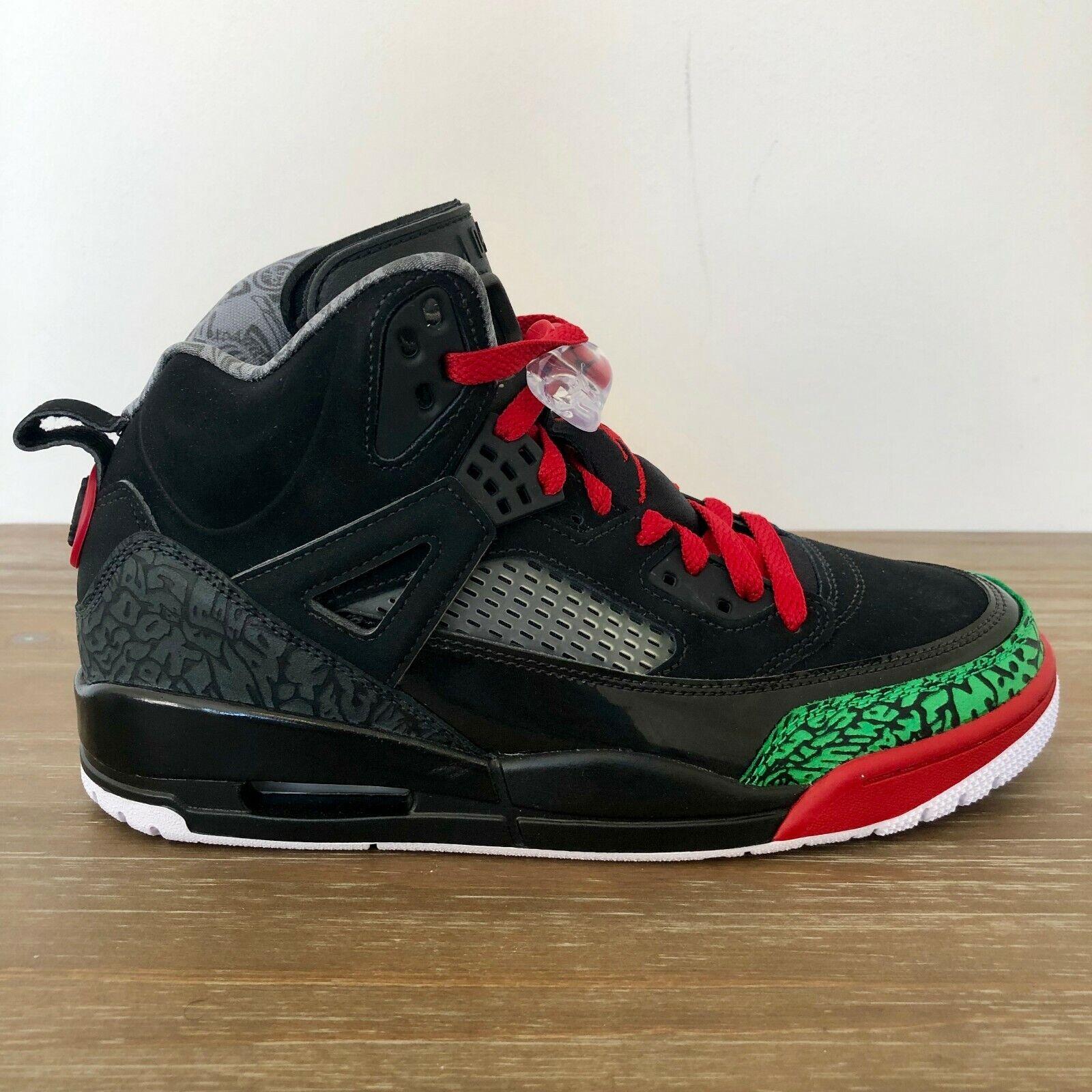 NIKE JORDAN  Spizike OG  Black Green Basketball Sneakers 315371 026 MEN'S SIZE 8