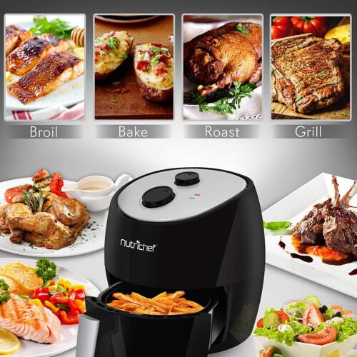 Nutrichef Electric Air Fryer Multi Cooker 1300W Oven Toaster Convection Oil Free