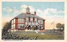 Springvale Maine Nasson Institute Exterior Street View Antique Postcard K24417