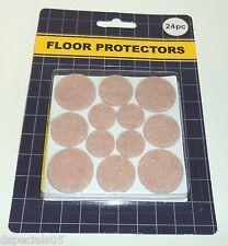 FLOOR PROTECTORS Apply On Glass Metal Plastic Wood 24 Pc NIP TAN