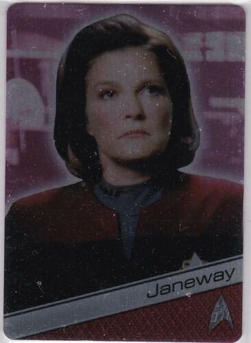 STAR TREK 50TH ANNIVERSARY METAL INSERT M34 KATE MULGREW AS CAPTAIN JANEWAY