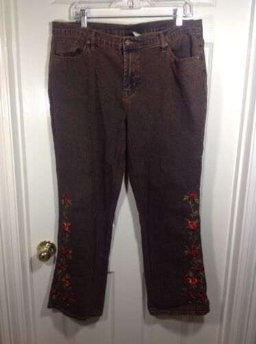 Dg2 Stone fiori marrone rossastro Ricamano Gilman 16p a Jeans Diane Washed Out qR5xEO