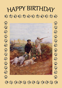 English setter men shooting with dogs dog birthday greetings note image is loading english setter men shooting with dogs dog birthday m4hsunfo