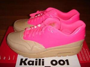 Details about Womens Nike Air Max 1 VT QS Tan Pink Leopard Safari HOA Infrared OG Retro WMNS B