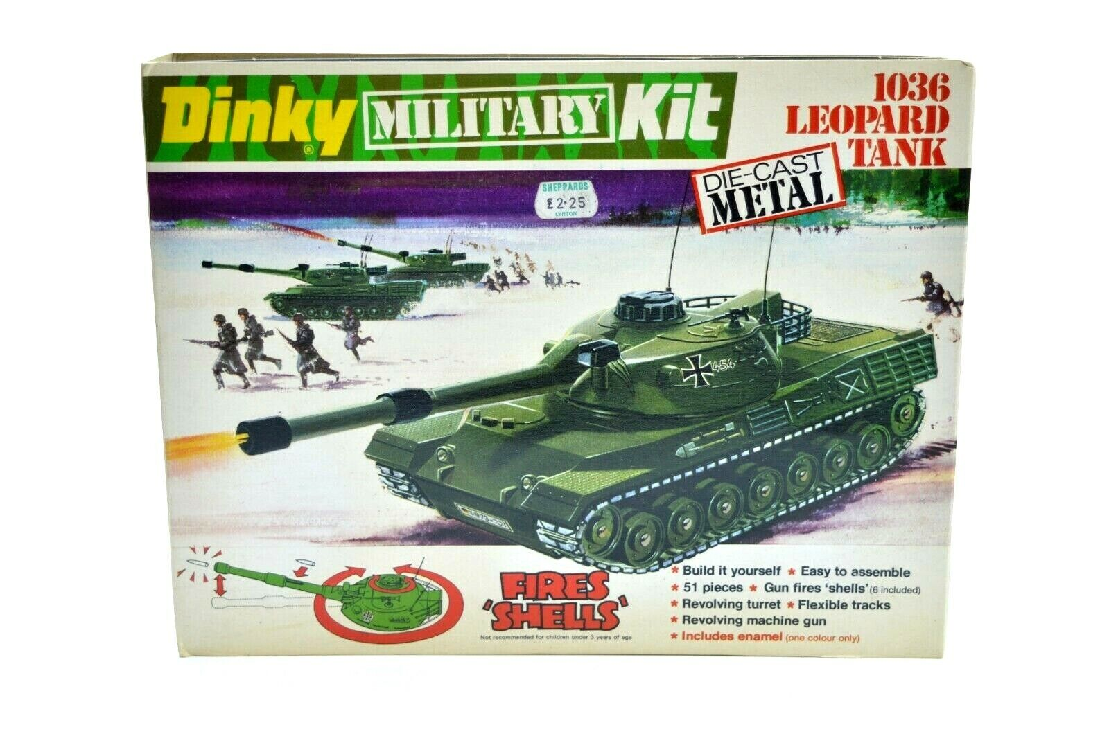 DINKY ACTION KIT 1036 LEOPARD TANK