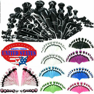 36Pcs-Acrylic-Ear-Gauge-Taper-Tunnel-Plug-Expander-Stretching-Piercing-Kit-Sets