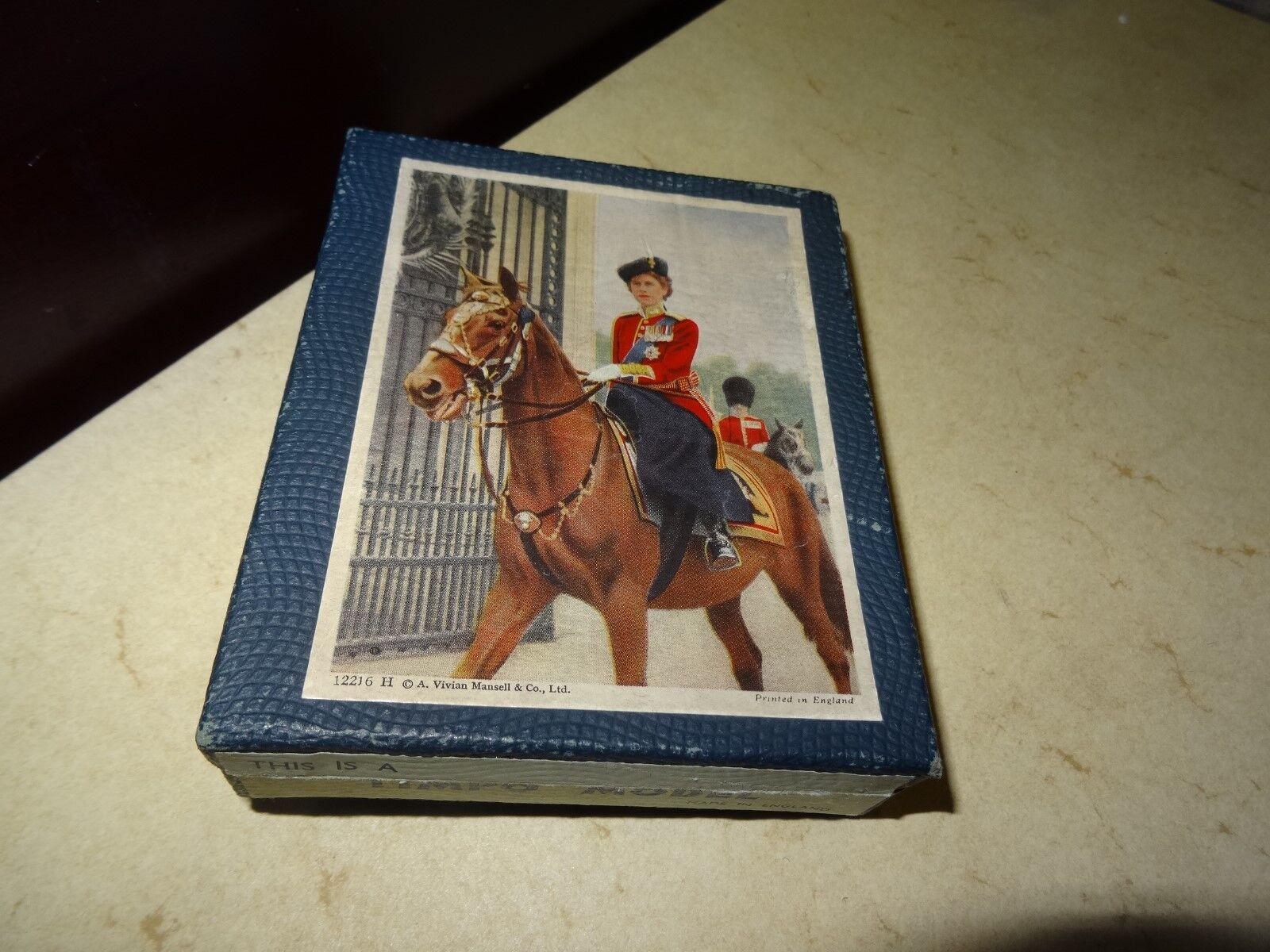 TIMPO  VINTAGE 1953 BOXED LEAD QUEEN ELIZABETH II MOUNTED FIGURE