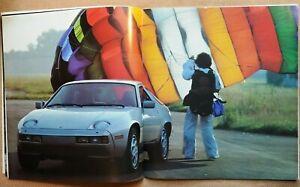 NICE USED ORIGINAL PORSCHE 928 FACTORY 36 PAGE COLOR SALES BROCHURE 1978