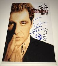 COPPOLA & SHIRE Godfather 3 Cast X5 Signed 11x17 Photo IN PERSON Autograph