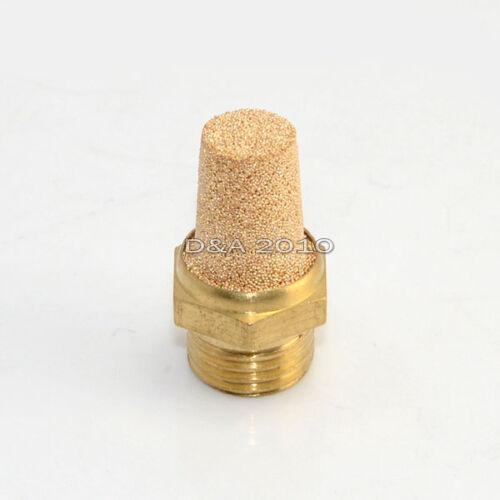 """1//8/""""-1/"""" Threaded Pneumatic Muffler Cone Filter Silencer Sintered Bronze Fitting"""