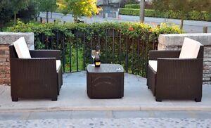 Mobili da giardino salotto in poly rattan da esterno poltrone tavolino ebay - Ebay mobili da giardino ...
