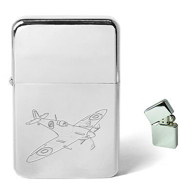Engraved Personalised Lighter Military Aircraft Spitfire Hurricane DC3 Vulcan