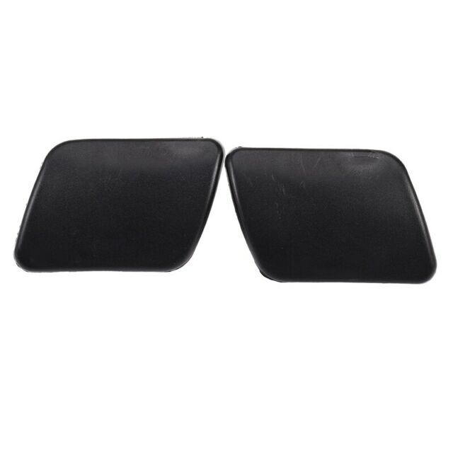 Left+Right Front Headlight Washer Sprayer Cover Cap L R Black Color for Golf 4 I