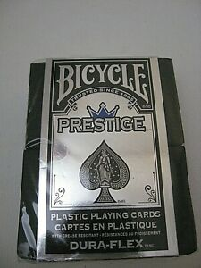 BICYCLE-PRESTIGE-100-PLASTIC-PLAYING-CARDS-DECK-BLUE-STANDARD-INDEX