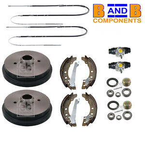 VW GOLF MK1 GTI CABRIOLET BRAKE DRUMS SHOES KIT C384